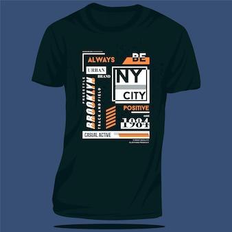 Brooklyn new york city graficzny projekt koszulki typografia wektor ilustracja styl casual