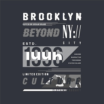 Brooklyn poza kulturą ilustracja napis w nowym jorku