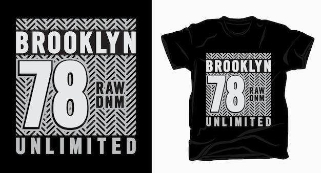 Brooklyn siedemdziesiąt osiem typografia do projektowania koszulek