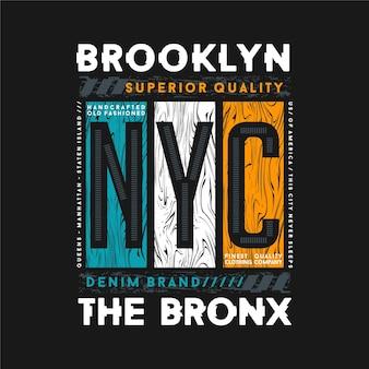 Brooklyn the bronx new york city graficzny t shirt ilustracja typografii