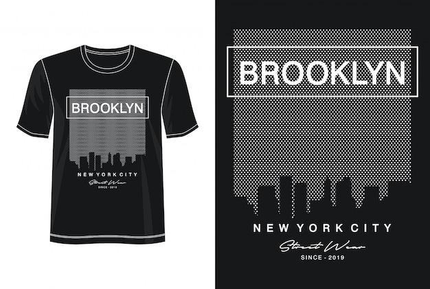 Brooklyn typografia do koszulki