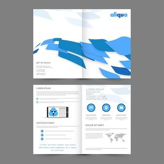 Broszura abstrakcyjna, projekt korporacyjnych szablonów dla twoich raportów i prezentacji biznesowych.