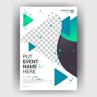 Broszura biznes magazyn z układem geometrycznej koncepcji