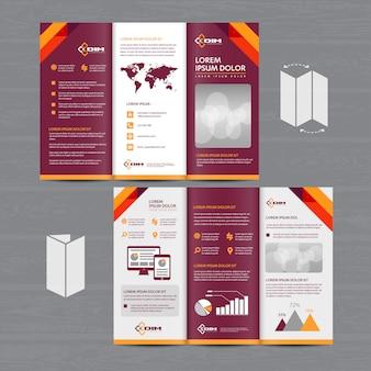 Broszura biznes tri fold ulotka ulotka