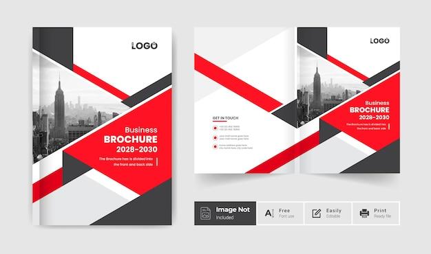 Broszura biznesowa szablon projektu okładki kreatywna prezentacja broszury bifold