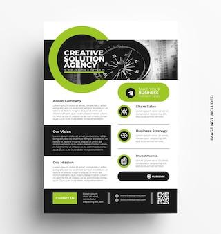 Broszura biznesowa szablon ulotki ze zdjęciem