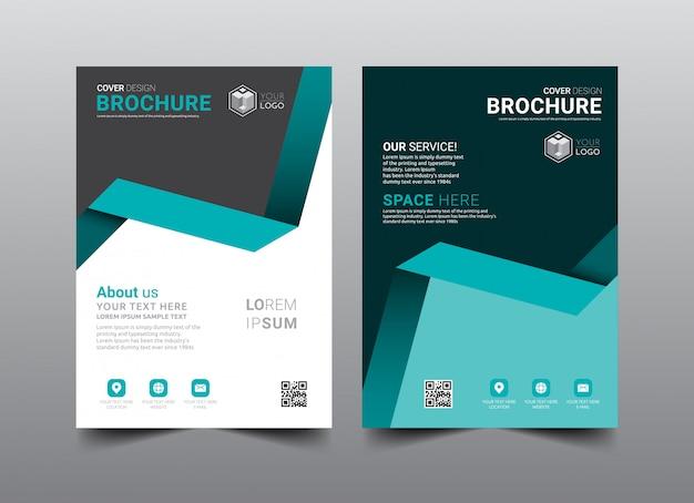 Broszura biznesowa układ okładki szablon projektu.