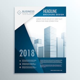 Broszura biznesowa ulotka okładka stronie projektu dla rocznego sprawozdania wektorowych ilustracji