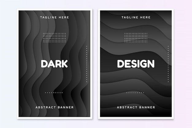 Broszura dark design