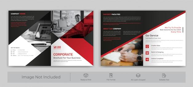 Broszura firmowa składana na dwa elementy
