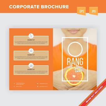 Broszura firmy orange beverages