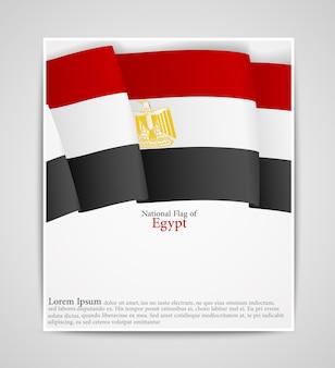 Broszura flagi narodowej egiptu