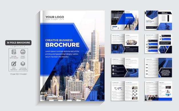 Broszura korporacyjna 16-stronicowy profil firmy i wielostronicowy projekt broszury biznesowej wektor premium