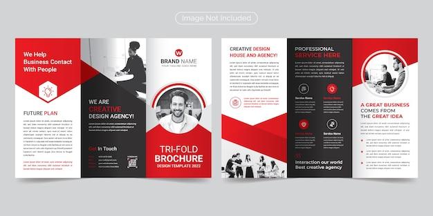 Broszura korporacyjna modern & professional trifold