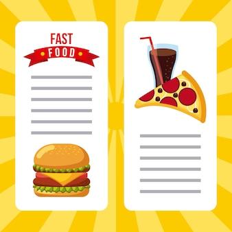 Broszura menu restauracji fast food