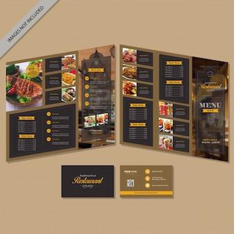 Broszura menu restauracji