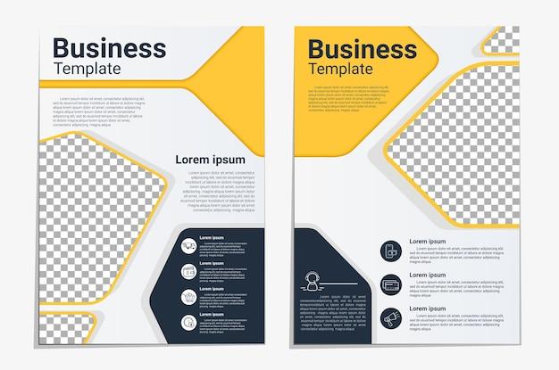 Broszura prezentacja szablonu projektu układu ulotki biznesowej