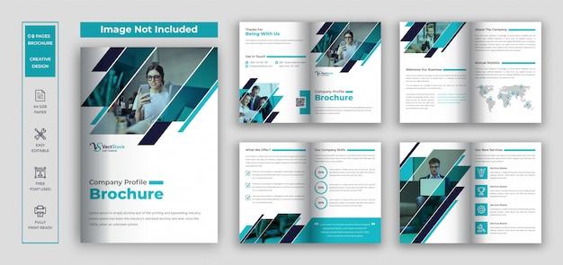 Broszura profilowa firmy, szablon broszury biznesowej i korporacyjnej