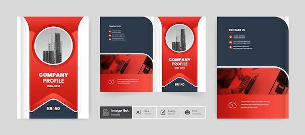 Broszura projekt okładki szablon profil firmy strona raportu rocznego nowoczesny układ firmy korporacyjnej