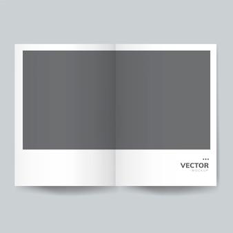 Broszura projektu szablon makieta wektor