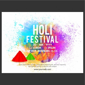 Broszura szablon na festiwalu holi