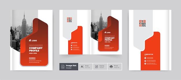 Broszura szablon projektu okładki profil firmy strona tytułowa raportu rocznego dla biznesu korporacyjnego