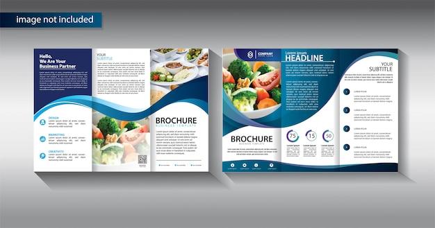 Broszura trifold biznes szablon do promocji marketingu