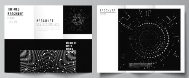 Broszura trójdzielna ulotka układ broszura projektowa ksiazki