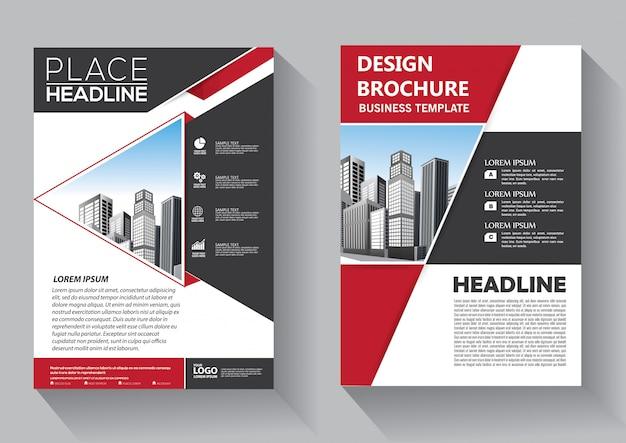 Broszura układ raportu rocznego ulotki plakat o geometrycznym kształcie