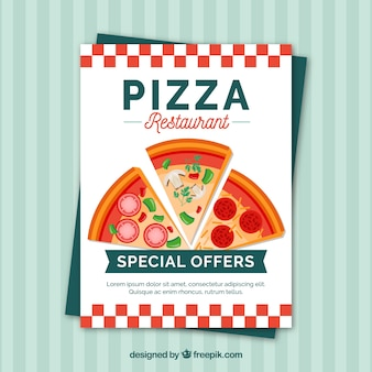 Broszura z pizzerią zniżką