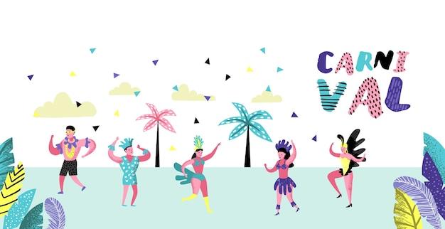 Broszura z tańczącymi postaciami