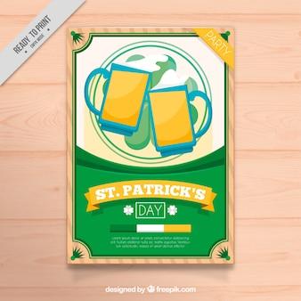 Broszura z ul. patryka piwa w płaskiej konstrukcji