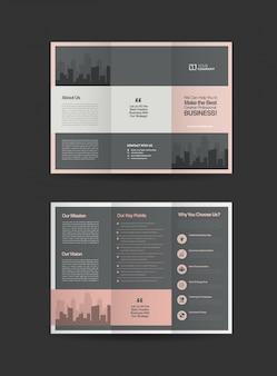 Broszury biznesowe potrójne