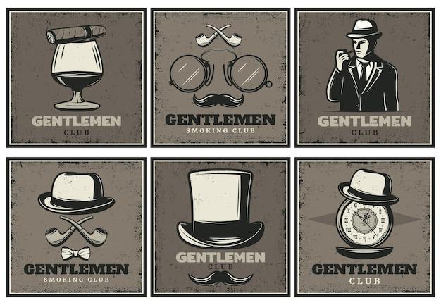 Broszury vintage gentleman club
