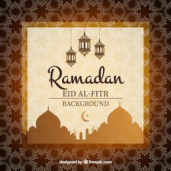 Brown dekoracyjne tło ramadan