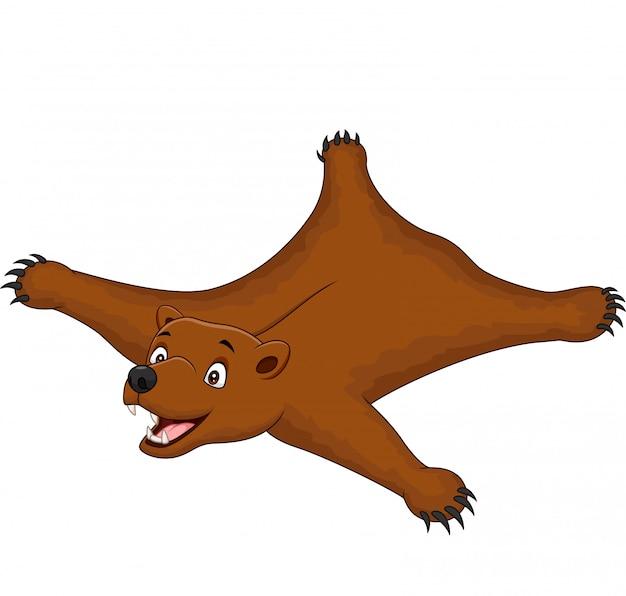 Brown niedźwiedzia dywanik odizolowywający na bielu