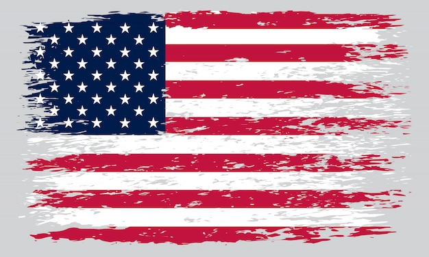 Brudna stara amerykańska flaga
