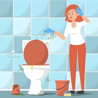 Brudna toaleta.