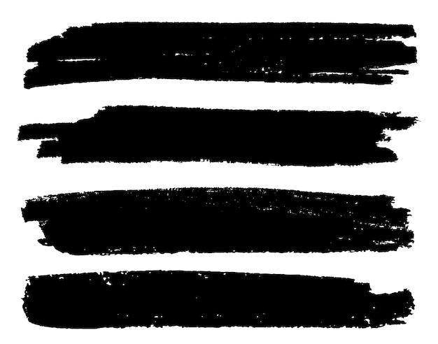 Brudne banery obrysu pędzla grunge
