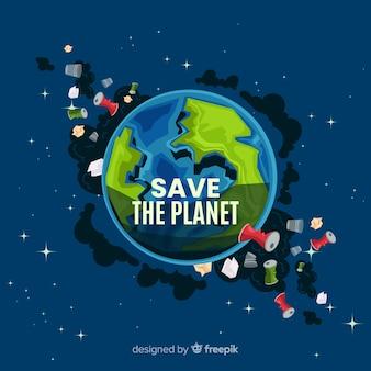 Brudny planety ziemi kreskówki tło