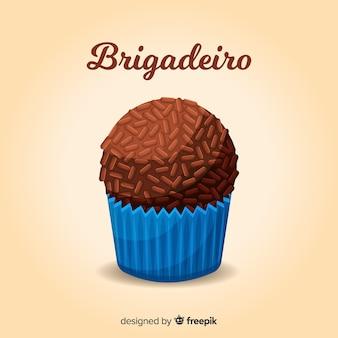 Brygadeiro płaskie tło