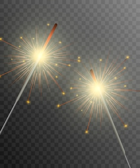 Brylant. fajerwerki musujące na tle. realistyczny efekt świetlny.