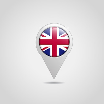 Brytyjska flaga wektor ikona nawigacji