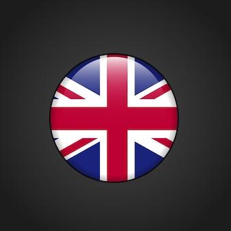 Brytyjska flaga zaokrąglone wektor wzór