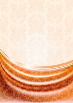 Brzoskwiniowa zasłona, jedwabna chusteczka na beżowym tle