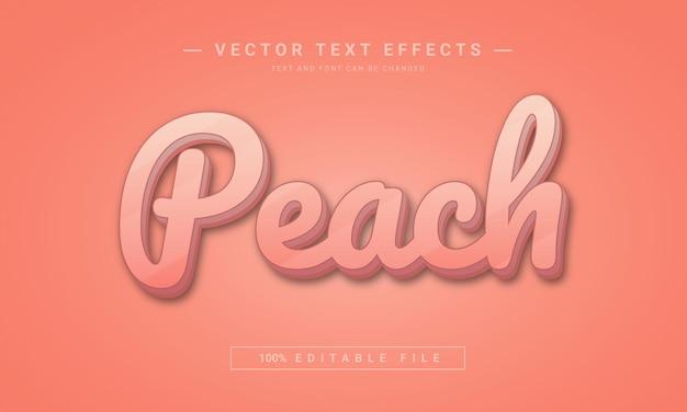 Brzoskwiniowy edytowalny efekt tekstowy 3d