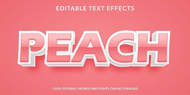 Brzoskwiniowy edytowalny efekt tekstowy