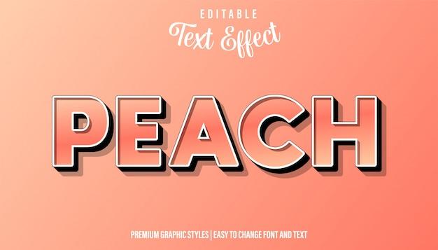 Brzoskwiniowy, edytowalny styl efektu tekstu