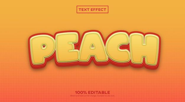 Brzoskwiniowy efekt tekstu 3d