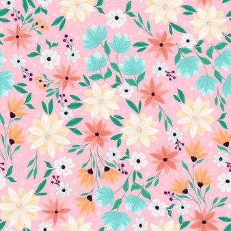 Brzoskwiniowy i różowy wiosenny wzór rano